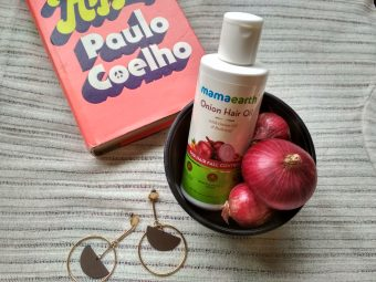 MamaEarth Onion Hair Oil pic 1-One stop solution for all hair problems.-By geetanjali_bharali