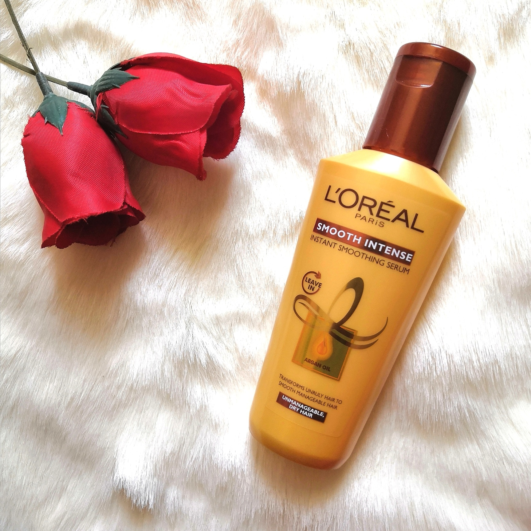 L'Oreal Paris Smooth Intense Instant Smoothing Serum -Favourite affordable hair serum-By stylefitjanu