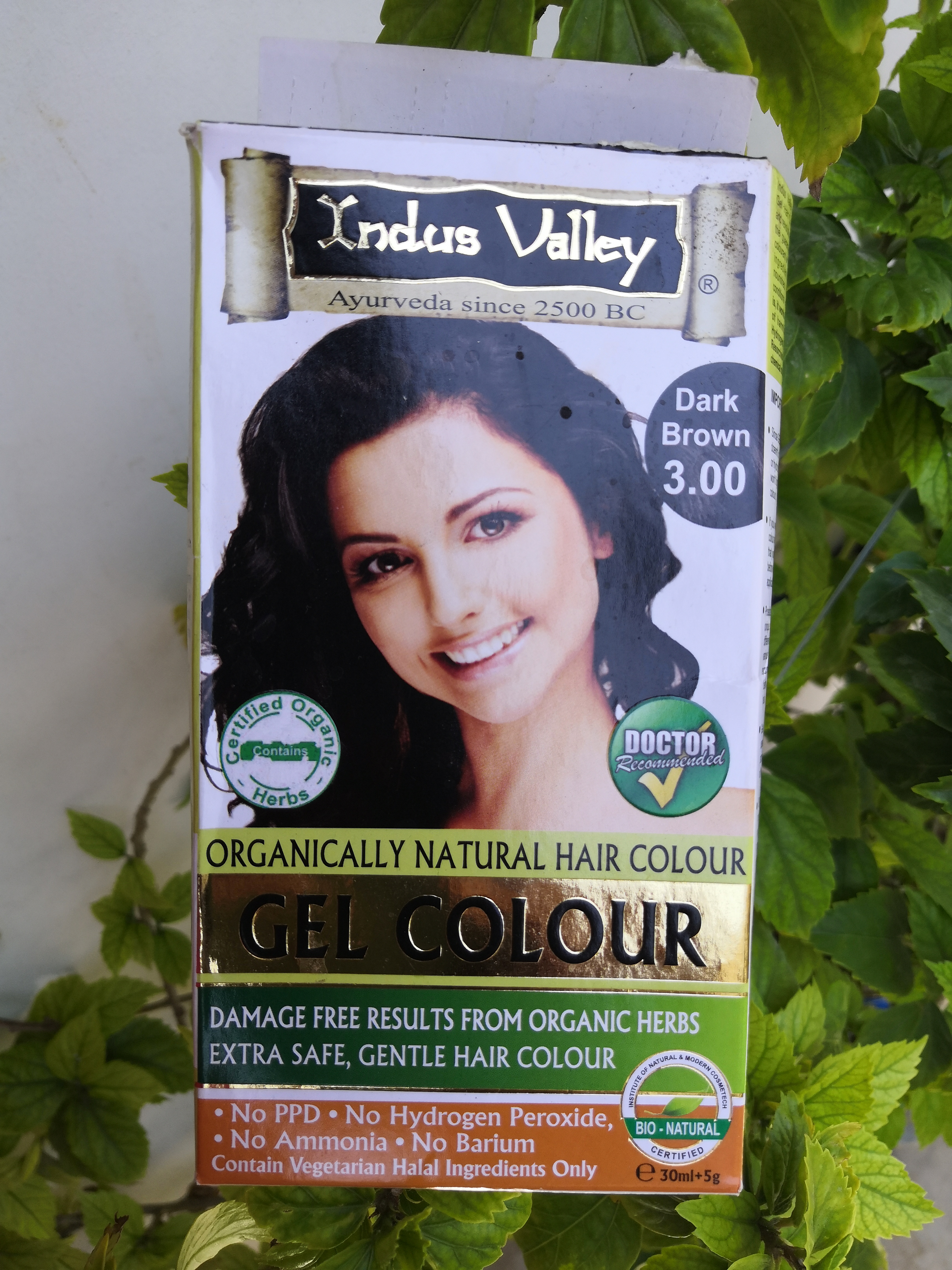 Indus Valley Organically Natural Gel Hair Color Dark Brown-Wonderful organic hair colour-By stylefitjanu