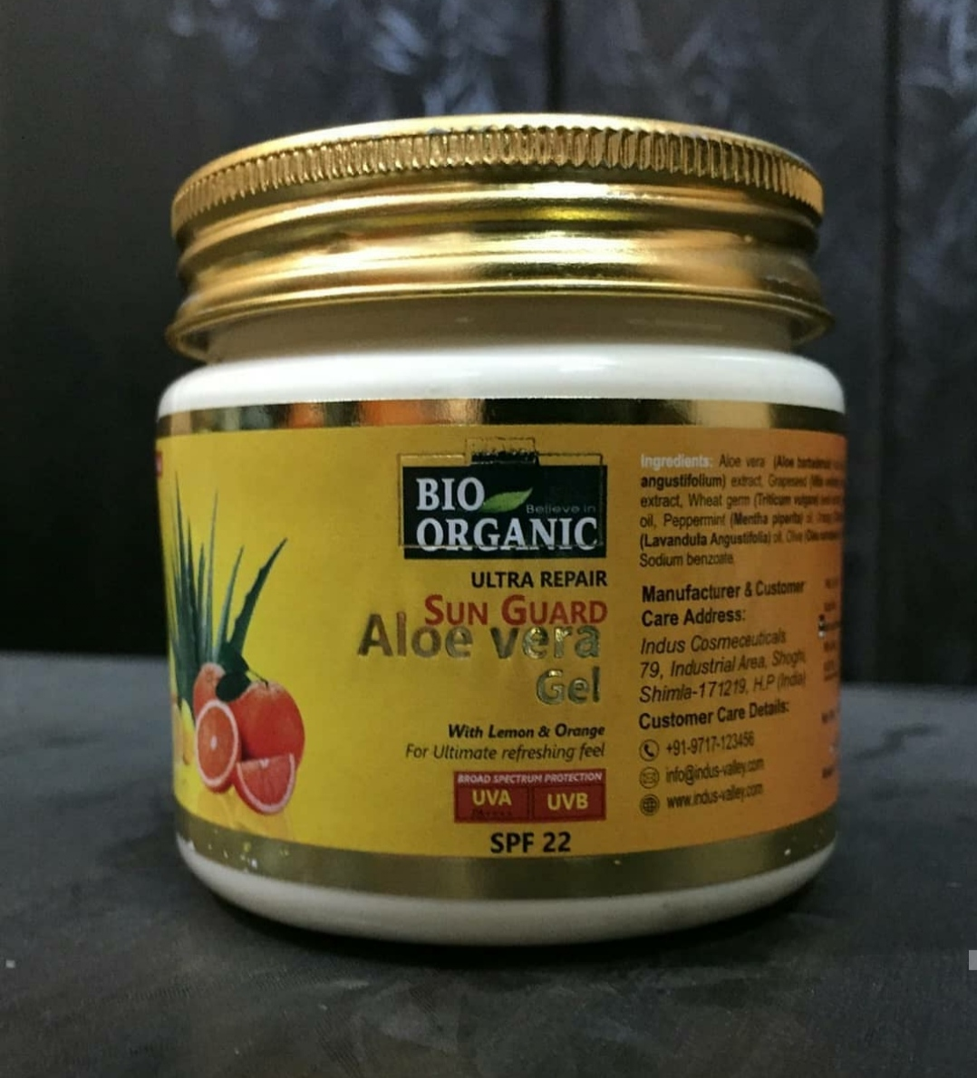 Indus Valley Bio Organic Sun Guard Aloe Vera Gel With Lemon & Orange-SPF 22-Good for summers!-By anjali_jalan
