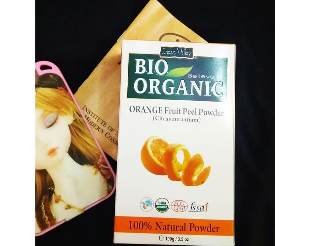 Indus Valley Bio Organic 100% Herbal Orange Peel Powder-Best for oily and acne prone skin!-By anjali_jalan