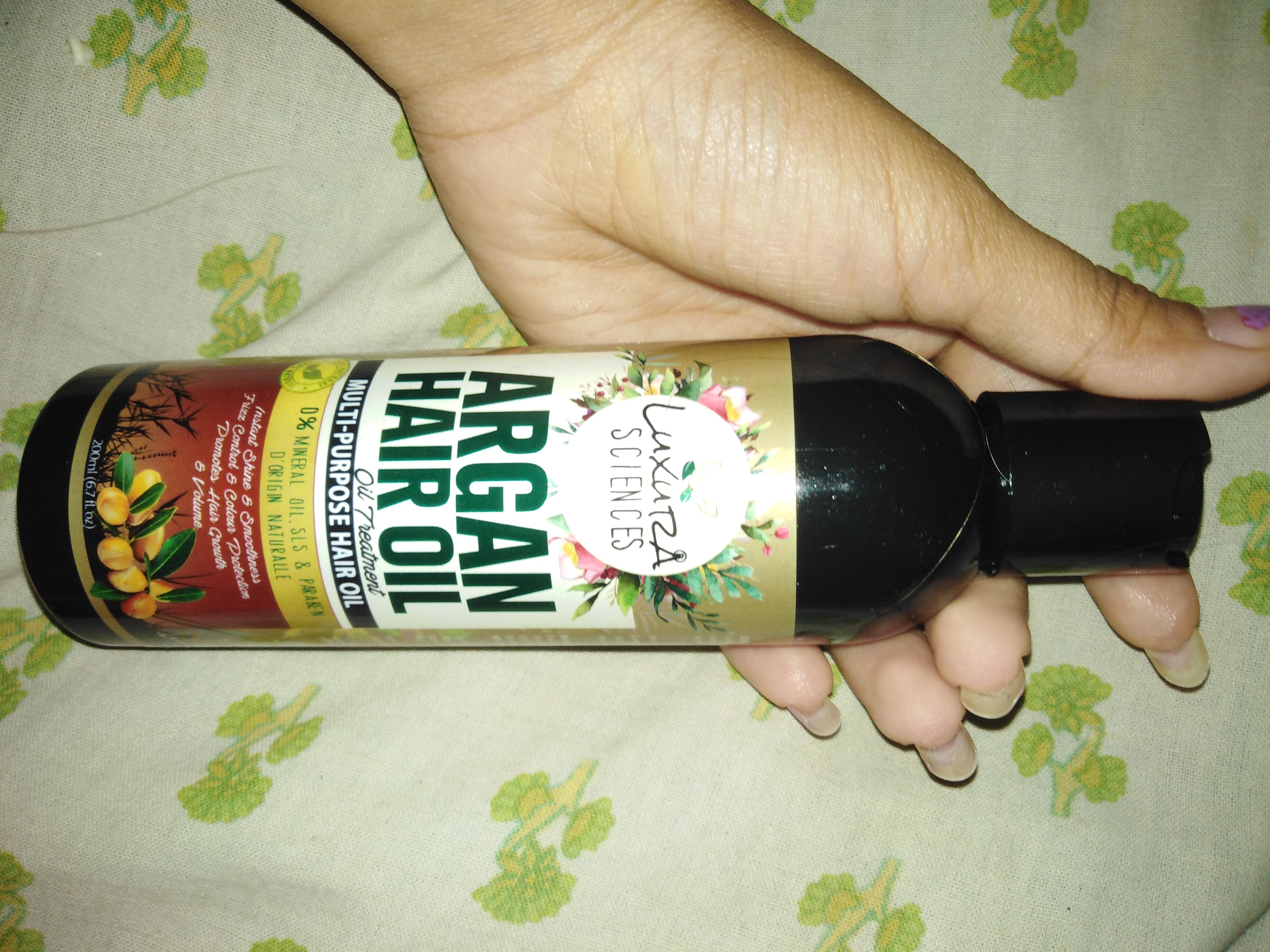Luxura Sciences Argan Hair Oil 200 ml-Good product-By tarusha_jain