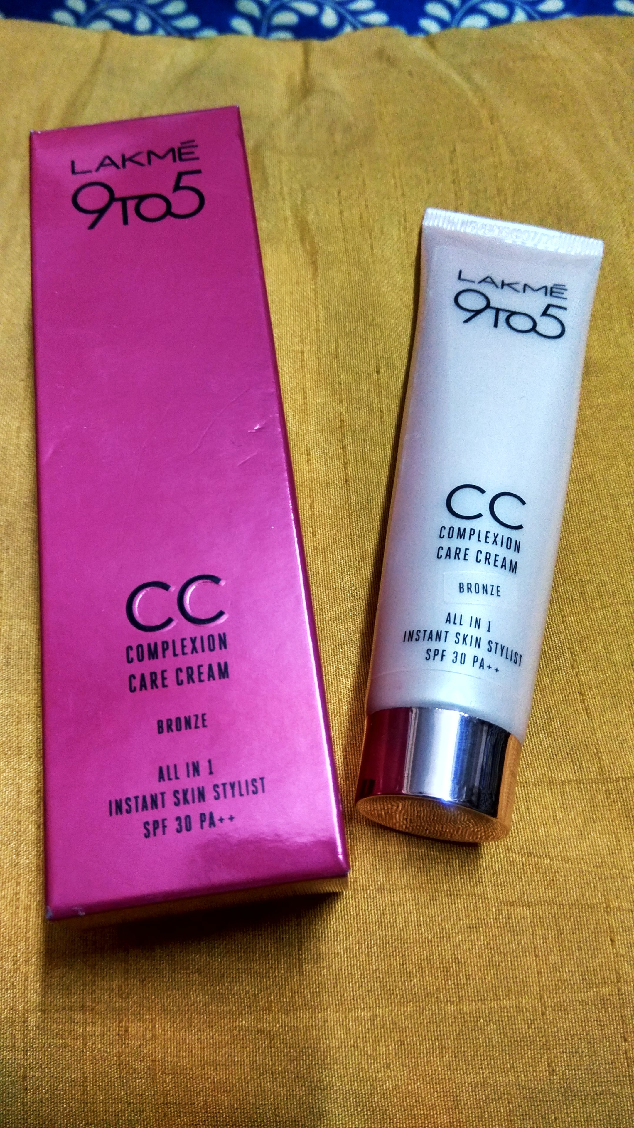 Lakme 9 to 5 CC Cream -Lakme CC Cream-By thestylishvibe