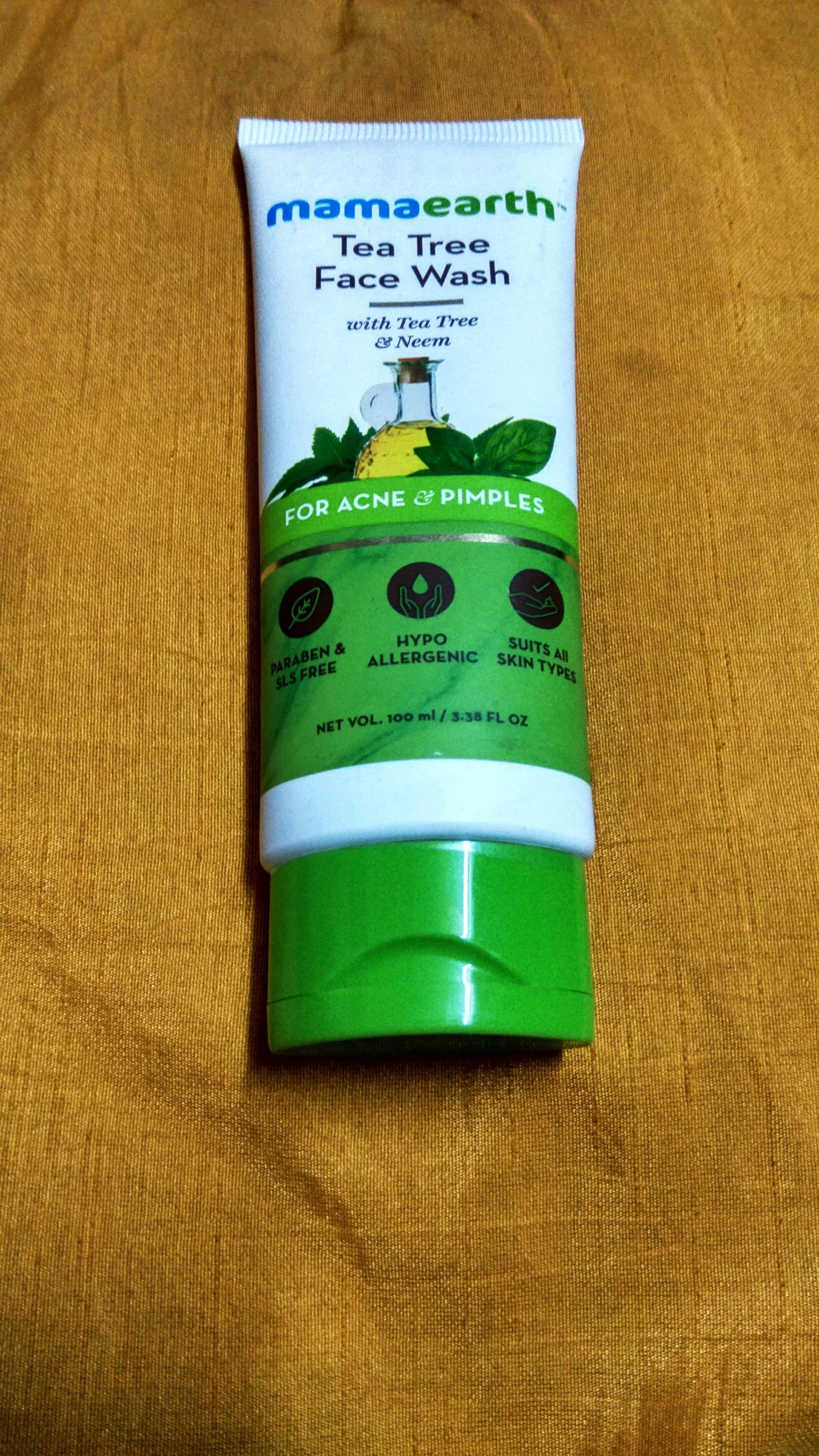 Mamaearth Tea Tree Natural Face Wash For Acne & Pimples -Mamaearth Tea Tree Face Wash-By thestylishvibe