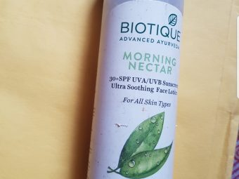 Biotique Morning Nectar Flawless Skin Lotion -This nourishing and brightening lotion blended with pure honey,wheatgram and seaweed. Replaces natural oils and replenishes lost moisture.. softness and brightens skin for a noticeable fairer complexion. Protects skin with SPF30 UVA/UVB sunscreen…-By jipshatravelfre