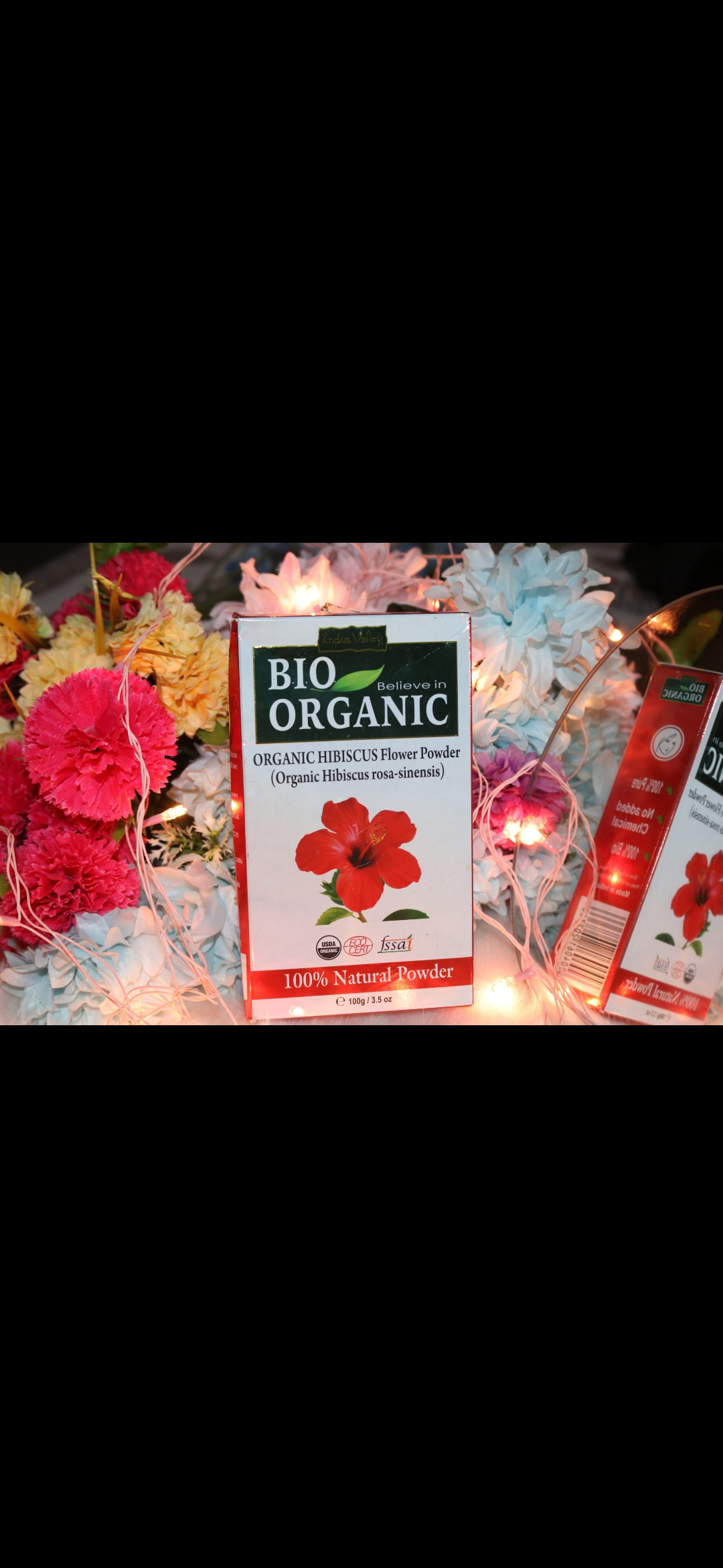 Indus Valley Bio Organic Hibiscus Powder-Multipurpose product-By g_u_n_j_u-1