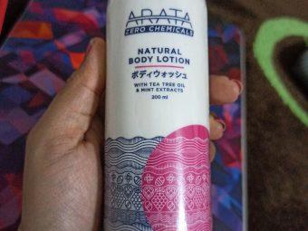 Arata Tea Tree Oil Mint Body Lotion -Zero harmful chemicals-By amrita_baruah