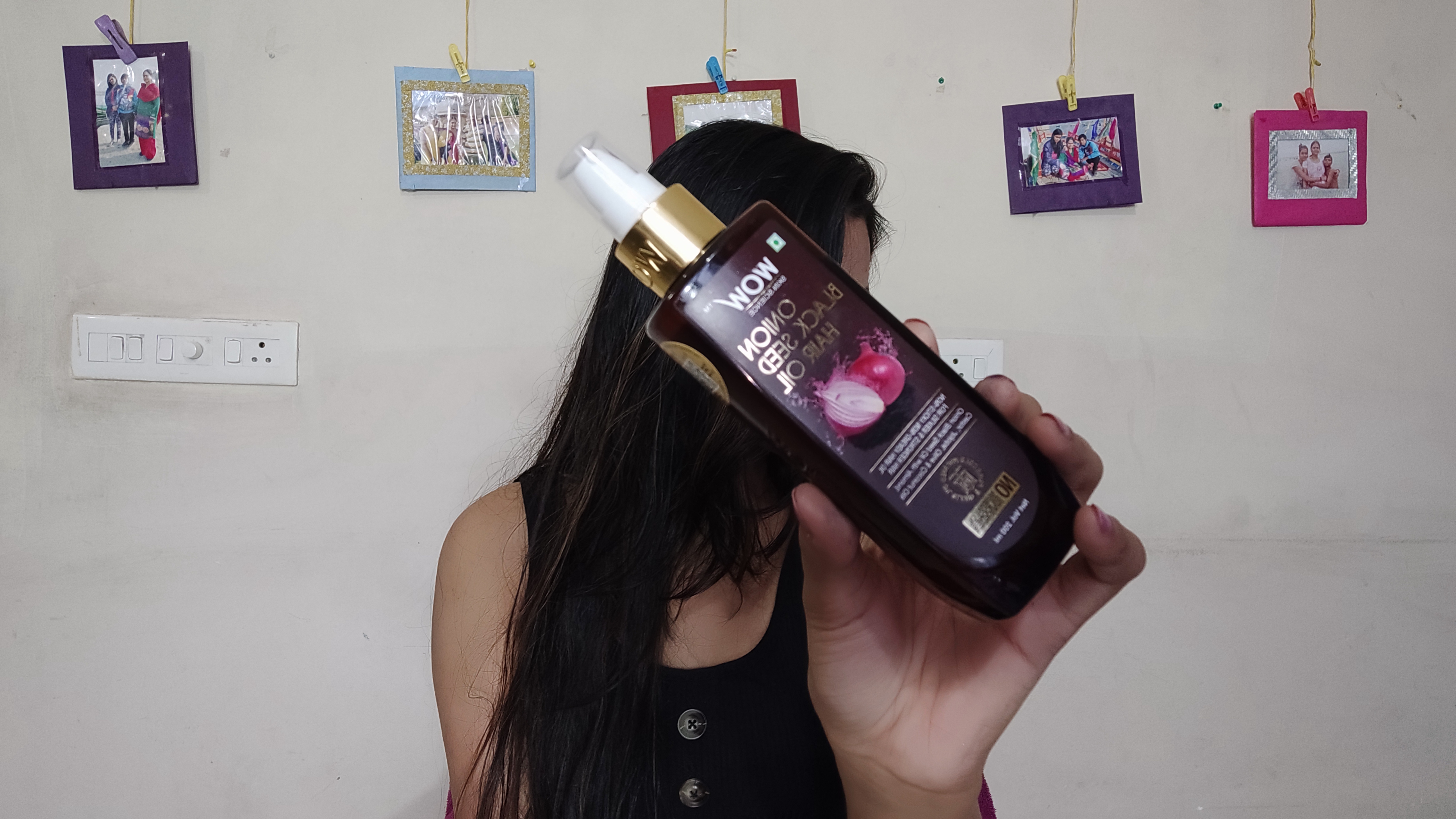 WOW Skin Science Onion Black Seed Hair Oil -This is an amazing product . It helped me in hair growth , made my hairfall a lot less and controlled the dandruff-By kaushiki_agarwal