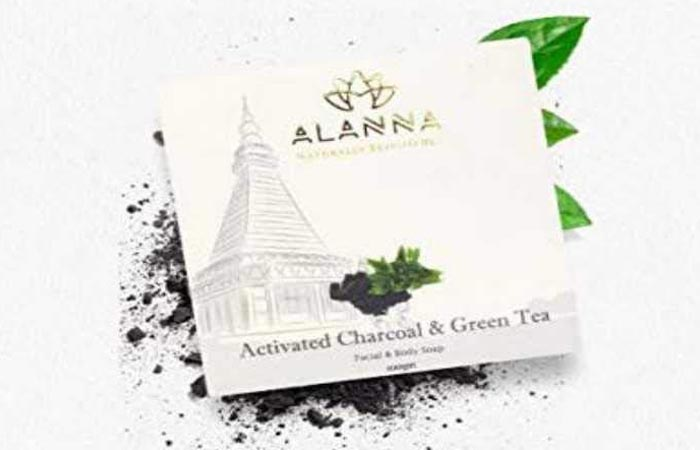 Allanna Handmade Activated Charcoal and Green Tea Soap