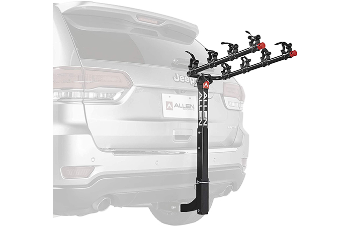 "Allen Sports 4-Bike Hitch Rack For 2"" Hitch"