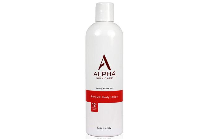 Alpha Skin Care Renewal Body Lotion With Glycolic Acid AHA