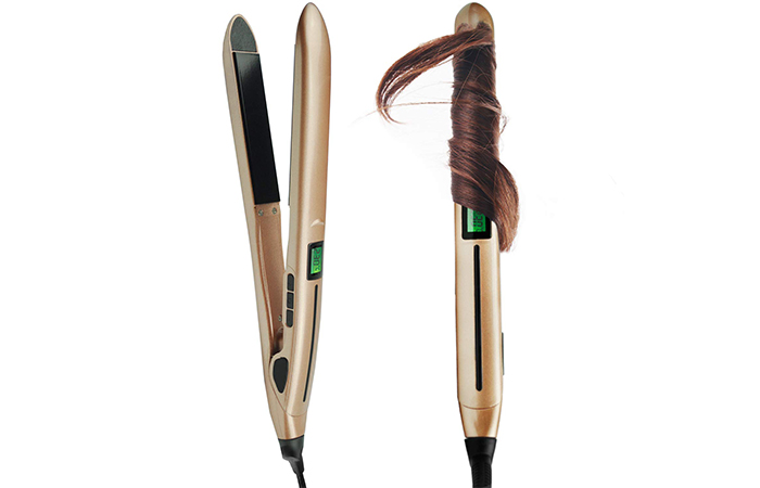 BLUETOP 2-In-1 Hair Curler And Straightener