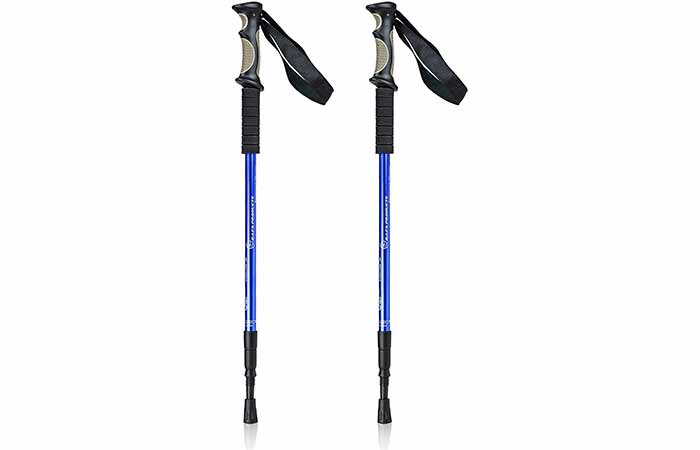 Bafx Products Adjustable Anti-Shock Trekking And Hiking Poles