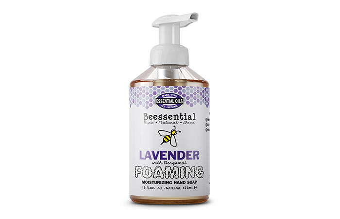 Beessential Lavender With Bergamot Foaming Moisturizing Hand Soap