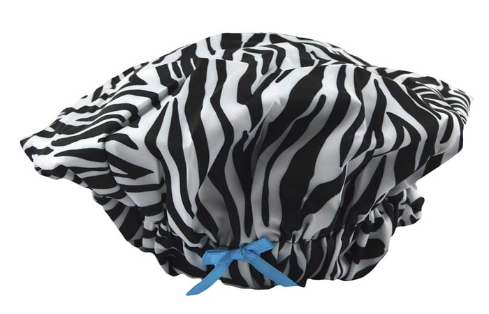 Betty Dain Fashionista Collection Mold-Resistant Lined Shower Cap