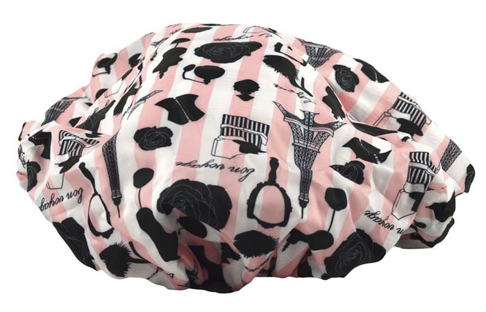 Betty Dain Socialite Collection Terry Lined Shower Cap