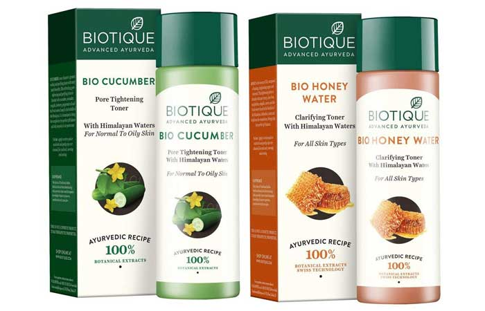 Biotic Toners, Cucumber Por Titaning And Honey Water Clarifying Toner
