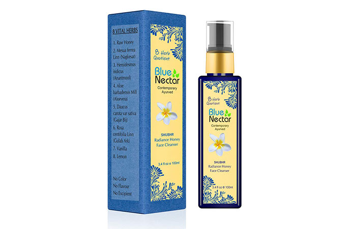 Blue Nectar Ayurvedic Honey and Aloe Vera Face Wash