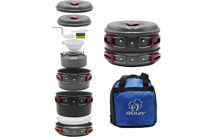 Bulin Camping Cookware Mess Kit