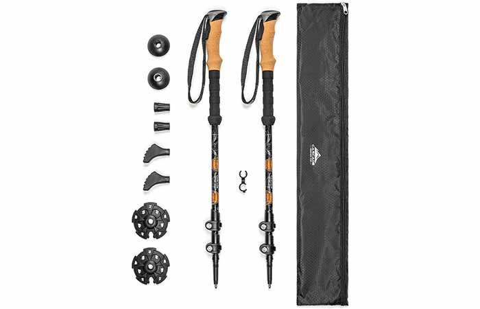 Cascade Mountain Tech Aluminum Adjustable Trekking Poles