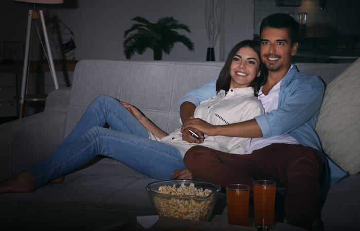 Cuddle While Watching Movies Together