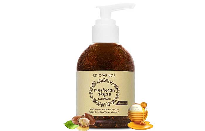 D'VENCE Moroccan Argan Oil and Raw Honey Face Wash