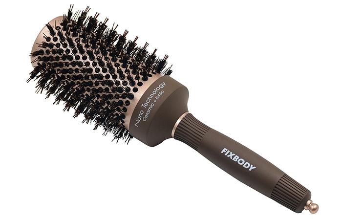 FIXBODY Boar Bristles Round Hair Brush