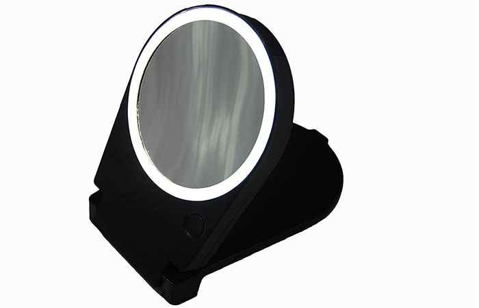 Floxite 15x Lighted Travel & Home Mirror