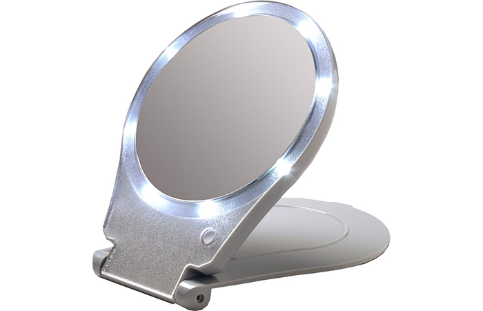 Floxite LED Lighted Travel and Home Mirror