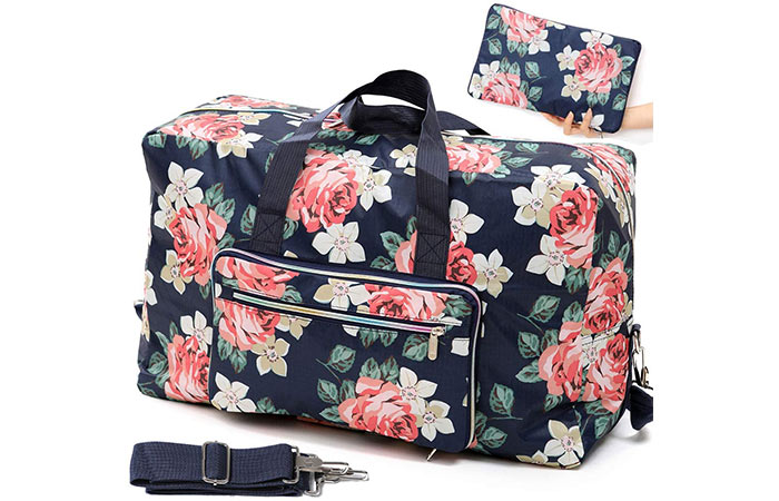 Fordicher Foldable Travel Duffle Bag For Women