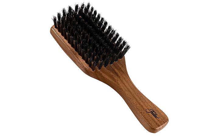 Fuller Brush Natural Walnut Wood Club Hair Brush