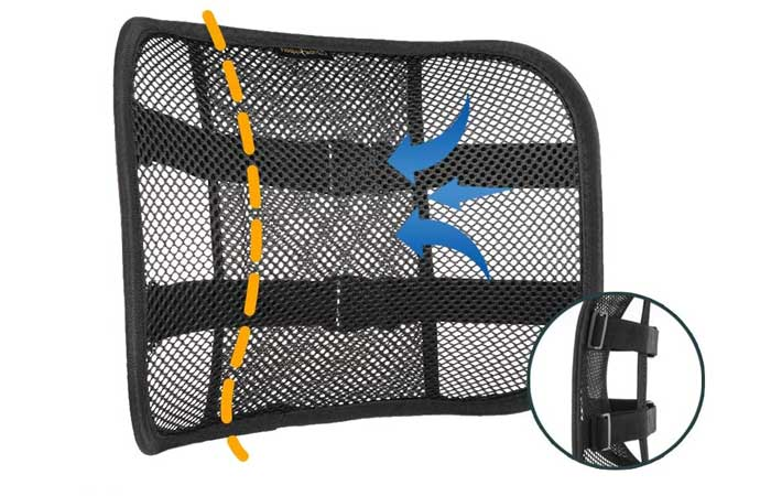 Go Lumbar Support Breathable Mesh Back Cushion