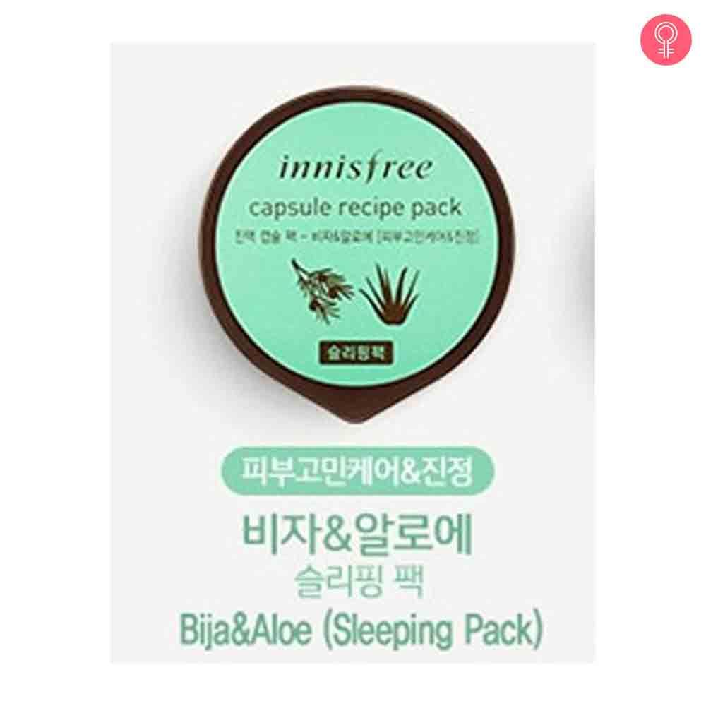Innisfree Capsule Recipe Pack – Bija & Aloe