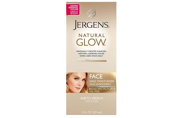 Jergens Natural Glow Moisturizer For Face, SPF 20