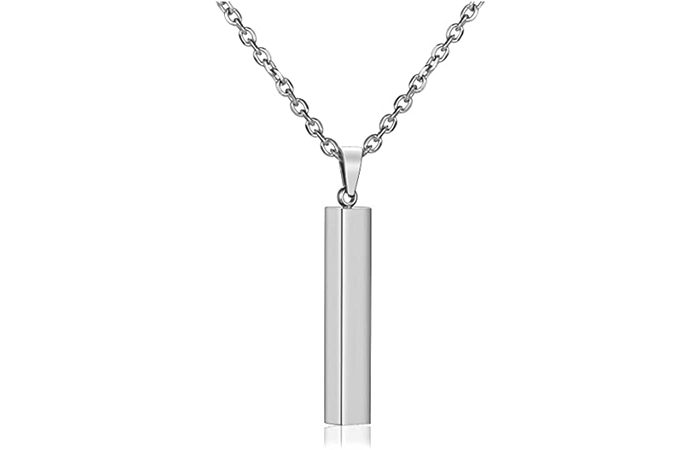 Jovivi 4-Sided Vertical Pendant Necklace