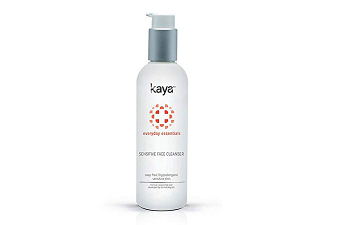 Kaya Clinic Face Cleanser for Sensitive Skin, Mild and Soap Free Face Wash for Sensitive Skin, 200 ml