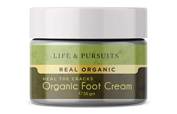 Life and Pursuits Organic Foot Crack Cream for Dry Cracked Heels and Feet