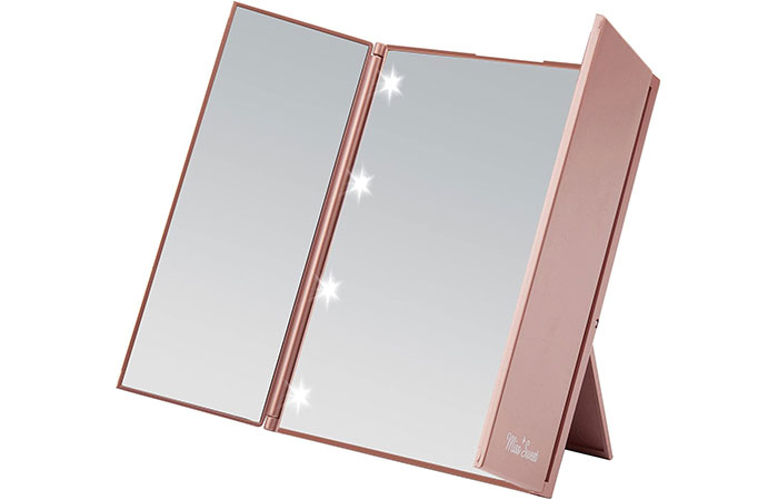 Miss Sweet LED Lighted Tri-fold Makeup Mirror