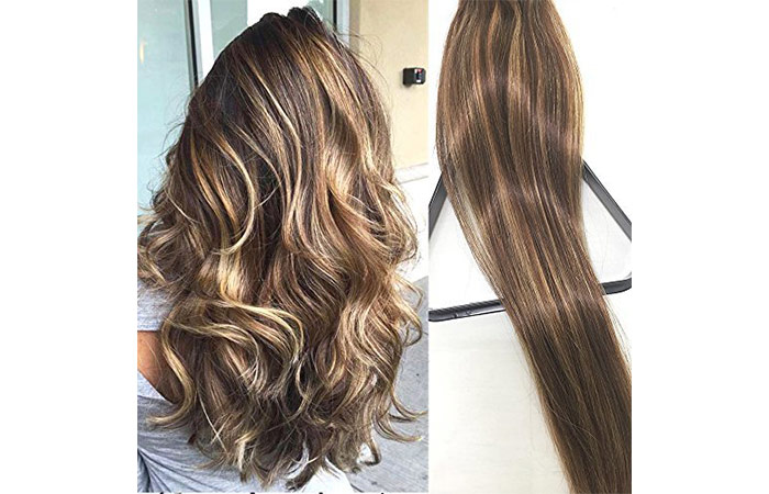 My Fashion Hair Brown Clip-In Remy Hair Extensions