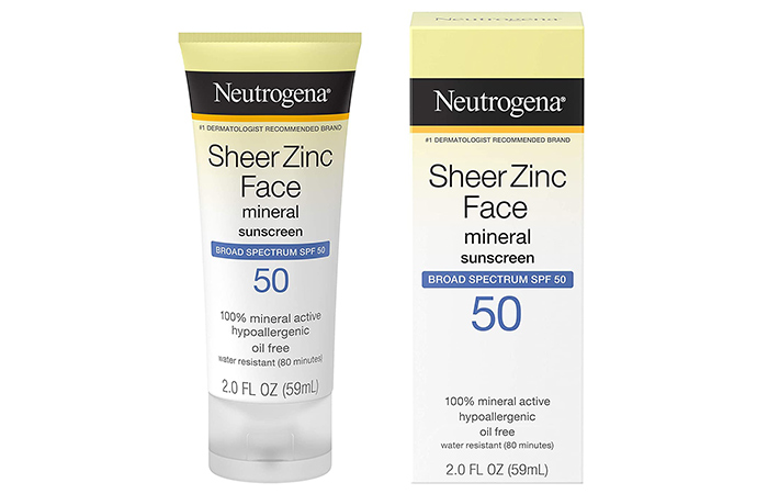 Neutrogena Sheer Zinc Oxide Dry-Touch Face Sunscreen