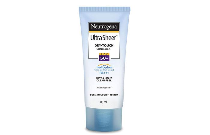 Neutrogena Ultra Sheer Dry Touch Sunblock, SPF 50+