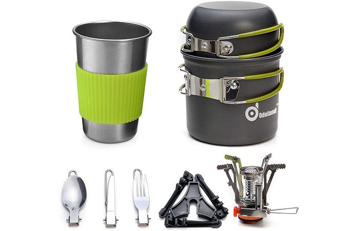 Odoland Camping Cookware Set