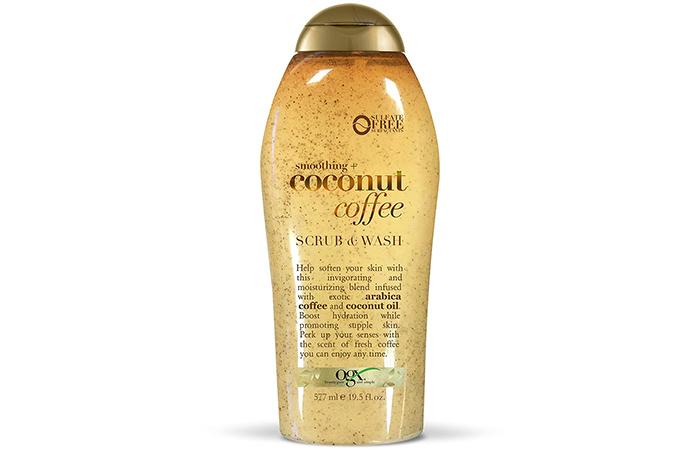 Ogx Smoothing + Coconut Coffee Scrub & Wash