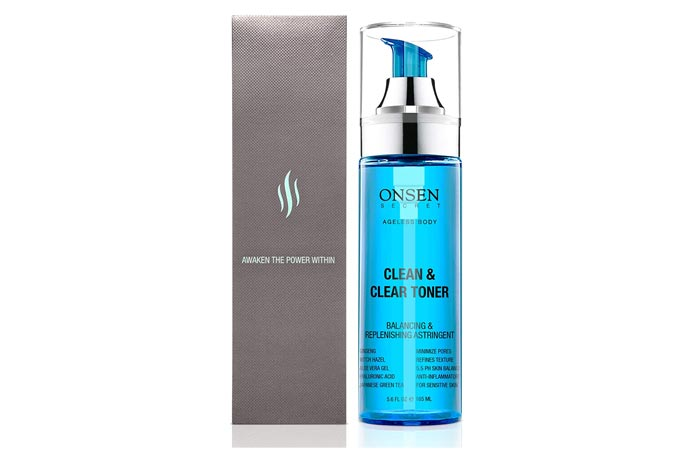 Onsen Japanese Clean Clear Face Toner