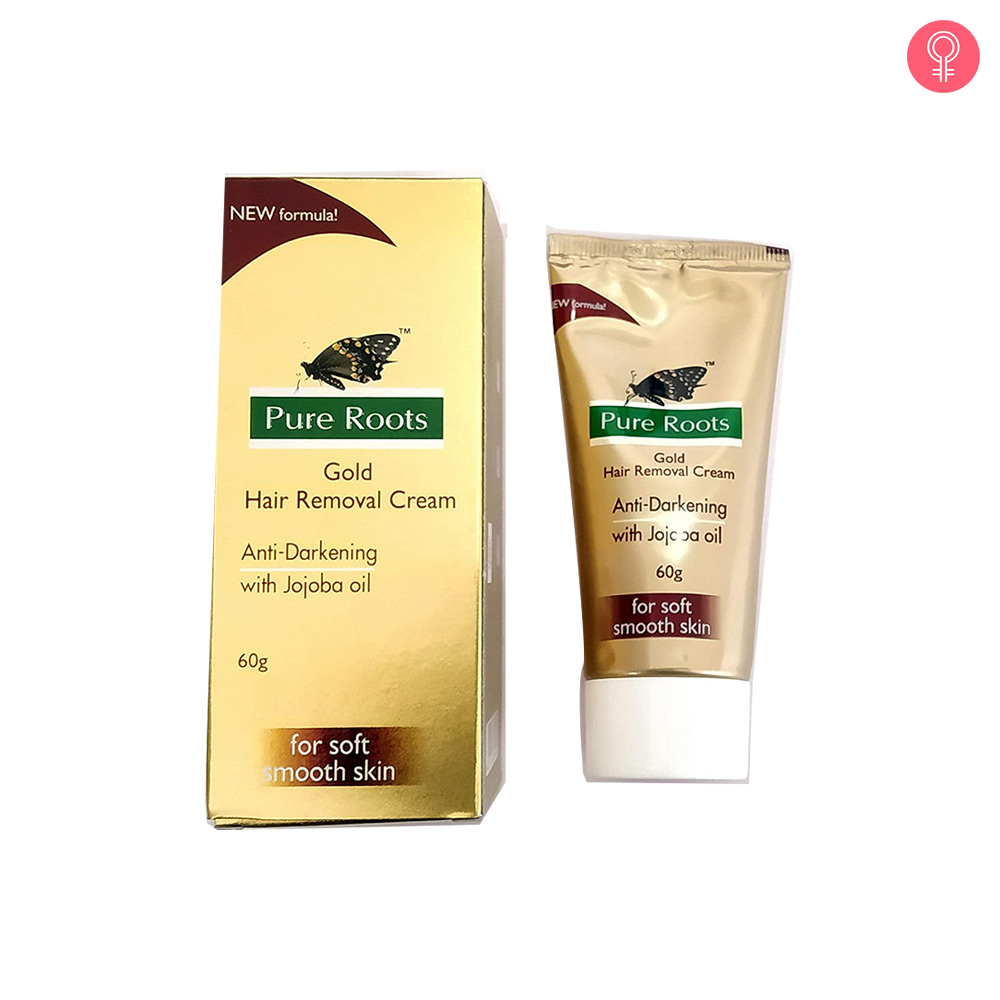 Pure Roots Gold Hair Removal Cream