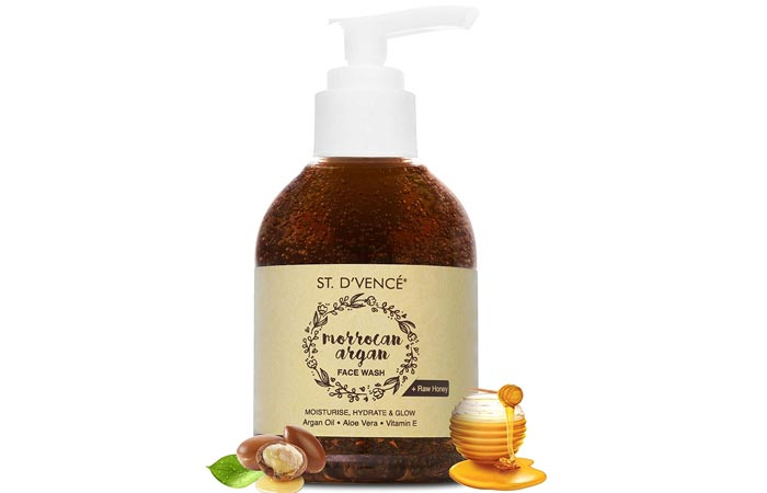 Saint DVance Moroccan Argan Oil and Raw Honey Face Wash