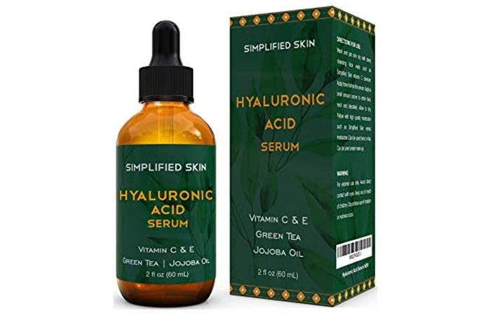 Simplified Skin Hyaluronic Acid Serum For Face Eyes