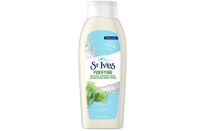 St. Ives Purifying Sea Salt & Pacific Kelp Exfoliating Body Wash