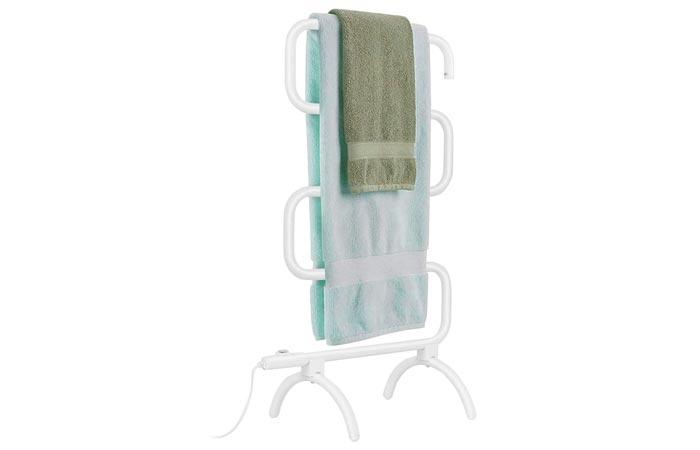 Tangkula Wall Mounted Design Towel Warmer Hanger