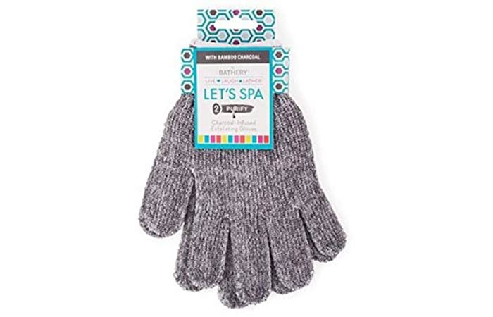 The Bathery Charcoal-Infused Exfoliating Gloves